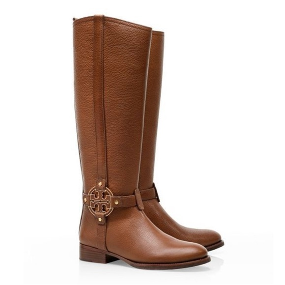 fa84d1a6d98d7 Tory Burch Amanda Brown Tall Riding Boots Size 7